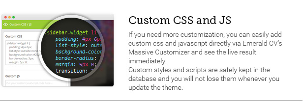 Custom CSS and JS