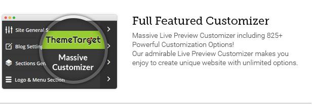 Full Featured Customizer