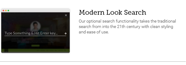 Modern Look Search
