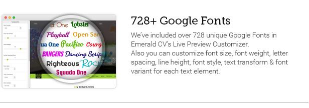 728+ Google Fonts